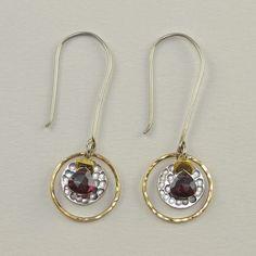 89ee6d869 Accented Iolite Dangling Earrings - Plumb Line Teardrop Earrings, Dangle  Earrings, Handmade Jewelry,