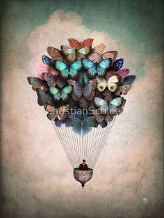 Illustration - illustration - Whole class makes a butterfly each to lift the balloon. illustration : – Picture : – Description Whole class makes a butterfly each to lift the balloon -Read More – Art And Illustration, Landscape Illustration, Balloon Illustration, Art Papillon, Art Amour, Wow Art, Pics Art, Art Design, Amazing Art