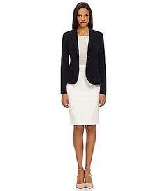Calvin Klein NotchCollar Jacket and Pencil Skirt #Dillards