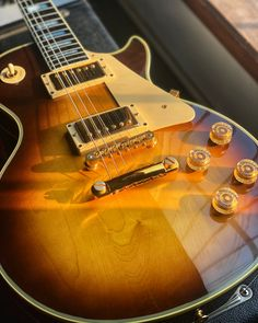This '78 Gibson Les Paul Custom is a cool classic rocker, with a tobacco sunburst finish on a bound maple top. Give it a spin with our 360 photo and see the full details at elderly.com.