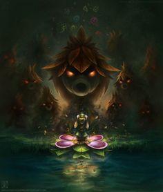 Majora's Mask Deku Scrub Artwork #Zelda #Nintendo #n64