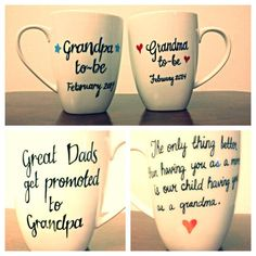 Grandparents Mugs by BellissimaMugs on Etsy, $35.00 // way cute for pregnancy announcements