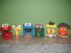Sesame Street Character Letter Art