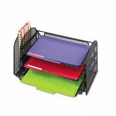 Safco® Onyx™ Mesh Desk Organizer with One Vertical/Three Horizontal Sections by Safco. $68.87. No Sales Tax. Low cost shipping. High quality. Safco® Onyx™ Mesh Desk Organizer with One Vertical/Three Horizontal Sections
