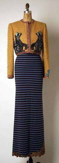 Ensemble  Geoffrey Beene (American, 1927–2004)  Date: fall/winter 1992–93 Culture: American Medium: (a) wool, silk; (b) wool, silk, synthetic