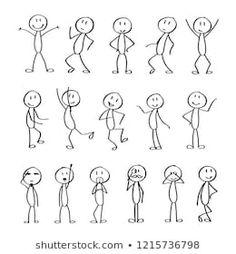 Stick Men Drawings, Easy Drawings, Doodle Lettering, Hand Lettering, Doodle Drawings, Doodle Art, Funny Stick Figures, Stick Figure Drawing, Figure Drawings