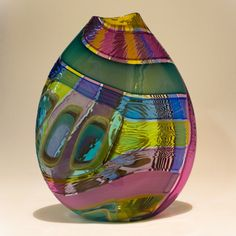 Art-Glass Vessel by 'Jeffrey Pan' Glass Vessel, Glass Ceramic, Fused Glass, Stained Glass, Blown Glass, Cast Art, Vases, Art Of Glass, Modern Glass