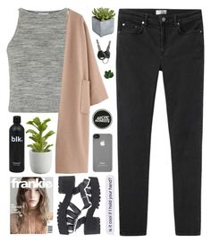 """""""i've always had a thing for silence"""" by the-midnight-garden ❤ liked on Polyvore featuring Topshop, Acne Studios, Pier 1 Imports, Crate and Barrel, Incase, Windsor Smith, Laura Cole and newyearwithgab"""