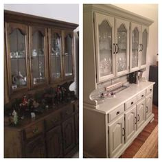 Before And After Dining Room Hutch. Time Consuming But Not Difficult!
