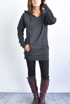 Ella Tunic fleece hoodie 7 colors ! | Jane