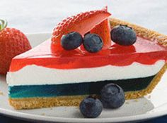 Recipe: Red, White & Blue Pie. Great for the 4th of July.