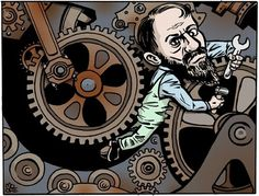 Max Weber (1864 – 1920)  [click on this image to find a short clip exploring Weber's notion of the iron cage] Artist: Artist: Kevin Moore (www.mooretoons.com/)