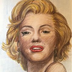 Marilyn Monroe, made by myself with colour pencils #Flingmar