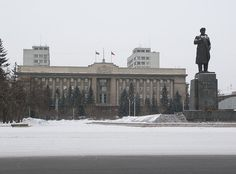 Krasnoyarsk- old statue of Lenin I used to play on when I was  a little kid