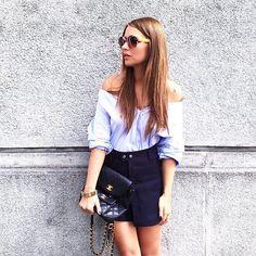 #VeronicaFerraro Veronica Ferraro: A different way to wear a basic shirt and my new @LiuJoGlobal @Marchoneyewear sunglasses  #Marchon