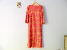 1970s Festival Kleid Maxikleid Vintage Dress von WildAndVintage auf DaWanda.com