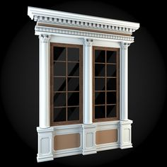 Window 070 by ThemeREX High quality polygonal model of window.max Max 2010 for separate models .max Max 2010 for the scene, w Arched Windows, Windows And Doors, Victorian House Interiors, House 3d Model, Classic House Design, Modern Exterior, Window Design, Design Case, Architecture Details