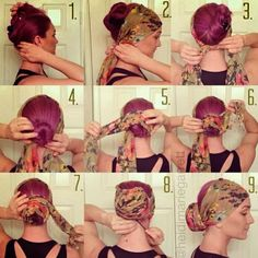 The Scarf Bun Pictorial | PinTutorials