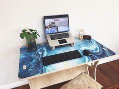 Flat Pack Workstation - Vinehall Displays - Work From Home Desks Worktop Designs, Wotton House, Crafty Fox, Home Desk, Work Tops, State Art, Birch, Cnc, Custom Design