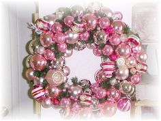 vintage pink ornament wreath | by Sweet Remembrance