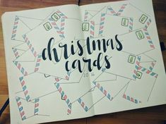 Keep track of everyone you want to send Christmas cards to. | 21 Fun And Festive Christmas Bullet Journal Ideas