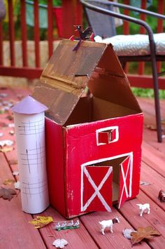 Penelope Dullaghan cardboard barn craft for kids