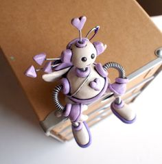 Robot Cupid Lavender Les  Valentine's Day Cute by RobotsAreAwesome, $40.00