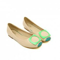 $15.46 Sweet Women's Flat Shoes With Color Matching and Round Toe Design
