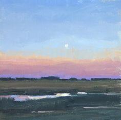 """Rainbow Marsh"" by Susie Callahan, 8 x 8, oil on linen board, SOLD"