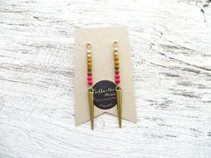 Gold Dagger Earrings // Long Stud Earrings // Statement Earrings // Geometric Earrings // Gifts For Women // Gifts Under 50 // Jewelry by bellwetherblonde on Etsy