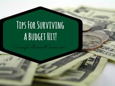 Tips for Surviving a Budget Hit!