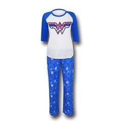Wonder Woman Blue 2-Piece Pajama Set