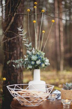 Mariage Hiver Scandinave - Design Dessine-moi une etoile - Fleurs Aude Rose - Photo Annaimages