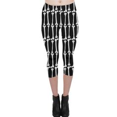 Bones  Capri Leggings