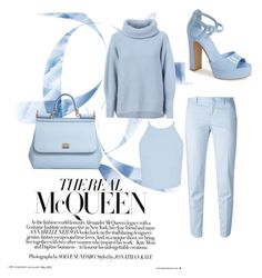 """All sky blue "" by ashapash on Polyvore featuring Maison Ullens, Dolce&Gabbana, Topshop, PT01 Pantaloni Torino and Miss Selfridge"