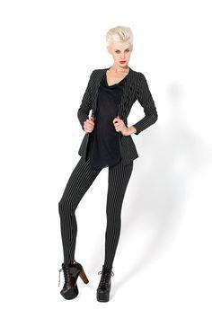Mafia Black Leggings and Jacket - LIMITED by Black Milk Clothing