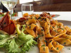 """""""Fettuccine e Astice"""" #callme_blest #picoftheday #photo #pic #photooftheday #pasta #fettuccine #astice #pesce #sicily #sicilia #pranzo #domenica #sunday #lunch #ciboitaliano #italianfood #food #instafood #instagram #instadaily #piattodipesce #photograph #iphone6 #italiandish #fish"""