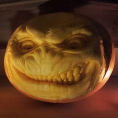 First #pumpkincarving 2016 :) #pumpkin #carving #halloween #sullen #art #darkconceptstattoo #darkconcepts #fun #jackolantern #halloweenpumpkin