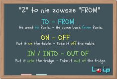 Przyimek ruchu Z to nie zawsze FROM - Loip Angielski Online English Words, English Lessons, Learn English, English Grammar Tenses, English Vocabulary, Education English, Teaching English, Polish Language, Perfect English