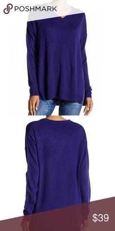 """NEW Sweet Romeo Oversized V-neck Sweater New with tags. Sweet Romeo Oversized V-Neck Sweater. Super soft. 100% acrylic.  - Long sleeves - Side slits - Ribbed trim - Pullover - Approx. 27"""" length Sweet Romeo Sweaters V-Necks"""