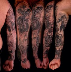 Dragon viking tattoo sleeve