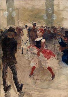 A l ' Elysee Montmartre - Henri de Toulouse-Lautrec, 1888