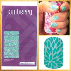 "JAMBERRY Seafoam Green Manicure Nail Wraps - Lotus ❤️❤️ 1 Full Sheet of Jamberry Vinyl Nail Wraps in the style ""Lotus"" with a seafoam green color and darling lotus petal design. Matte finish. Regular / Adult Size. Enough for up to 2 manicures + 2 pedicures + many accent nails. PRICE FIRM. Need other colors? Please visit my Posh closet! ❤️❤️.        (082015) Jamberry Other"