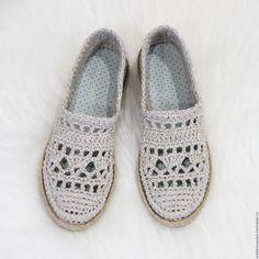 """Купить Льняные слиперы """" Натали"""" - бежевый, обувь льняная, летняя обувь"""
