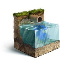 Illustration for Ecological site on Digital Art Served