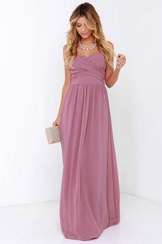 Royal Engagement Strapless Mauve Maxi Dress at Lulus.com!