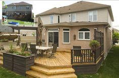 Simple Backyard Decks | This simple deck design provided ample space for enjoying the backyard ...