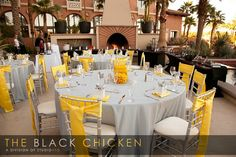 grey and yellow wedding..love some of the cake ideas they have listed on this site.