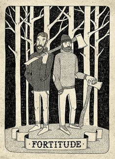 Fortitude by Ooli Mos. #lumberjack #axe #forest