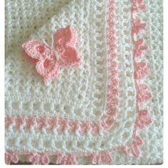 "Crochet baby blanket or moses basket bedabrir mantading. by CrochetBox, ""Crochet baby blanket or moses basket bedding."", ""So precious and Baby Afghan Crochet, Baby Girl Crochet, Baby Afghans, Crochet Blanket Patterns, Free Crochet, Knit Crochet, Baby Blankets, Unique Crochet, Crochet Blankets"